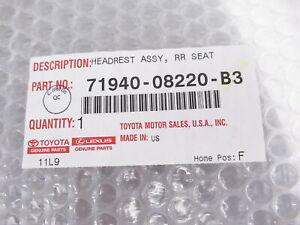 Genuine OEM Toyota 71940-08220-B3 Rear Headrest Gray 15-20 Sienna