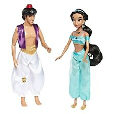 Disney Princess & Prince Aladdin and Jasmine Dolls Diamond Edition Set