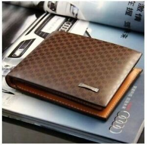 Luxury High Quality Wallet Mens Soft Leather Bifold ID Credit Card Designer