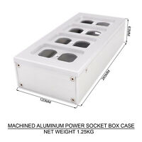 1PC POWER SOCKET CASE BOX Aluminum Alloy  Electrical Outlet Chassis AUDIO DIY
