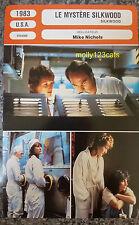 US Movie Drama Silkwood Meryl Streep Kurt Russell French Film Trade Card