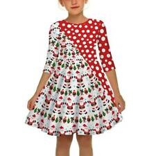 Toddler Kids Girls Christmas Swing Dress Xmas Party Tunic Tutu Dresses Clotheses