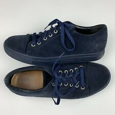 Mr B's for Aldo Men's Navy Blue Suede Leather Lace Up Sneakers Size 9.5