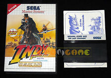 INDIANA JONES AND THE LAST CRUSADE Master System Versione Europea PAL • COMPLETO