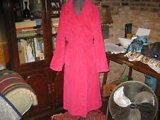 Ladies Cypress Turkish plush terry cloth Spa robe Dk Pink md in Turkey large