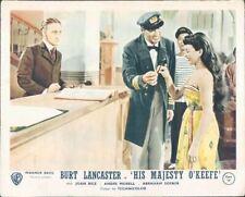 His majesty O'Keefe Original Lobby Carte Burt Lancaster Joan Riz En Hôtel