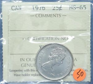 Canada 1976 - Nickel Quarter - Graded MS-65 by ICCS
