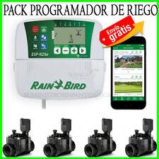 RAIN BIRD PACK PROGRAMADOR DE RIEGO RZXe INTERIOR 4 ESTACIONES + 4 VALVULAS HV