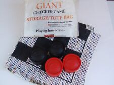1999 Giant Checker Game Rug Storage Tote Bag Giftware Trader Woven Mat Board IOP