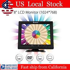 """US Portable 8"""" HD TFT LCD Monitor Display VGA BNC Video Audio HDMI Input"""