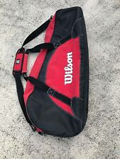 Wilson Tennis Bag 3 Pk Red And Black