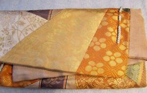 Japanese Designer Clutch/Purse/Envelope Obi Silk Brocade, Braided Detail