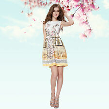 Ever-Pretty Floral Empire Waist Dresses for Women