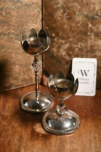 Metal Flower Shaped Candle Sticks