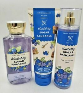 Bath and Body Works Blueberry Sugar Pancakes Collection