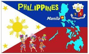 Filippine Mappa / Bandiera - Souvenir Novità Calamita Frigo - Attrazioni / Nuovo