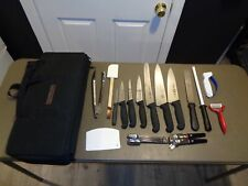 Victorinox Forschner 16 Piece Cutlery Knife Set Switzerland With Carrying Case