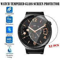 2 Pcs of New Universal Round Smart Watch Tempered Glass Screen Protector Film