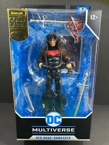 McFarlane Gold Label Unmasked New 52 Red Hood DC Multiverse - Brand New! Mint!!
