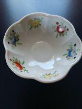 Vtg Pioneer Mdse Co Rare Ceramic Hand Floral Trinket Biwl