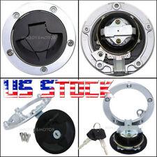 US Stock Fuel Gas Cap Cover Lock 2X Keys For Kawasaki Ninja ZX6R ZX600 2007-2008