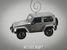 2014 Billet Silver Jeep Wrangler Polar Edition Christmas Ornament 1/43 Hard Top