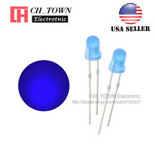 100pcs LED 3mm Diffused Blue-Blue Round Top F3 DIP Light Emitting Diode LED USA