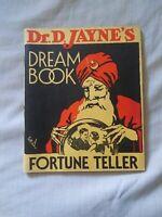 Dr D Jayne's Dream Book And Fortune Teller Booklet 1935 RARE Psychic Ephemera