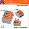 2/3/5 Way Connector Wire Reusable Spring Lever Terminal Cable Blocks Lighting UK