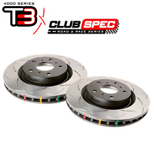 DBA T3 4k-series slotted FRONT rotors (PAIR) for Subaru 15-17 WRX 42650S-10