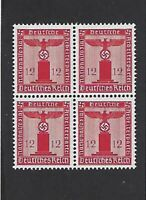 MNH 1942 stamp BLOCK  / PF12 / Germany /  Small WWII emblem / Third Reich / WWII