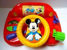 New listing Vtg. Disney Mickey Mouse Test Drive Car Toy w/Lights Music Nursery Rhymes -Works