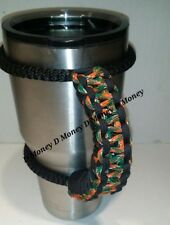 Paracord Handle for 40oz ,30oz, or 20oz  YETI, SIC, Ozark, Rtic Hurricanes & Blk