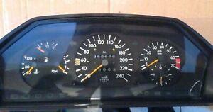 Mercedes W201 190 190E Speedometer Dash Clocks Instrument Cluster 240 km/h