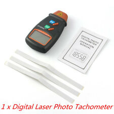 Small Engine Non Contact Hand Held Digital Photo Tachometer Rpm Speed Kit