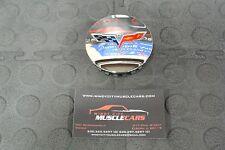 NEW 2005-13 Corvette C6 Chrome Center Cap Crossed Flags 2 5/8