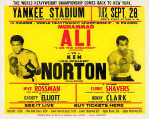 1976 Cassius Clay MUHAMMAD ALI and KEN NORTON Glossy 8x10 Photo Print Poster