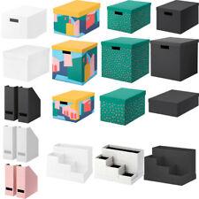 Ikea TJENA Storage Box With Lid Desk Organiser Box Insert File Magazine Office