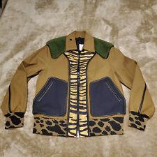 COACH Men's Large Shearling Bomber Jacket Coat Multicolor Animal Print NWT $1200