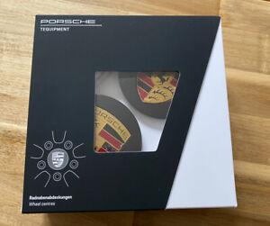 Genuine Porsche Wheel Centres Black