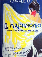 EL MATRIMONIO COUPLET - LETRA DE E. NIETO DE MOLINA / MUSICA JUAN COSTA 1915