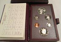 1983 Prestige Proof Set U.S. Mint COA Box 6 coin Olympic Silver Dollar