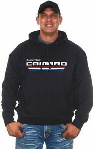 Chevy Camaro Hoodie Pullover Sweatshirt Black Licensed Printed Front GEN3 Logo