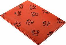 Rouge Art et Artisanat Nappe Table Plastique / Splashmat - Ours Design AP/079/SR
