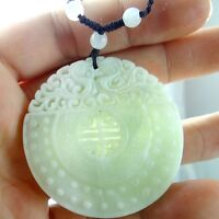 100% Chinese jade hand-carved the statue of dragon PENDANT  E-2