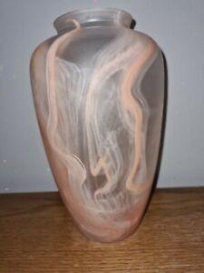 Coloured glass vase