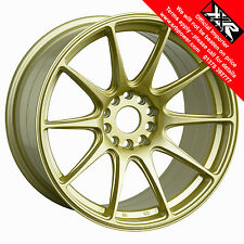 "XXR 527 18"" x 8.75J  ET20 5x100 5x114 GOLD SET OF 4 WHEELS"