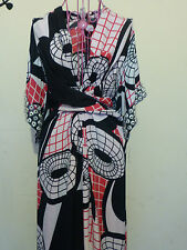 ISSA LONDON RUNWAY STRETCH KNIT DRESS NEW LARGE L Geometric Abstract