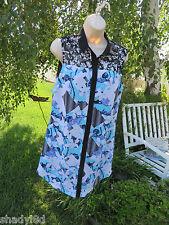 PETER PILOTTO SHIRT DRESS Medium Lace Blues Black NEW Lined