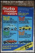 AMS Auto Motor Sport 24/73 * Fiat 130 Coupe Manta Turbo VW 1303 DB 240 D